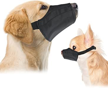 """Small Quick Fit Dog Muzzle, Size 1, fit Snout Size 5"""", by Downtown Pet Supply"""