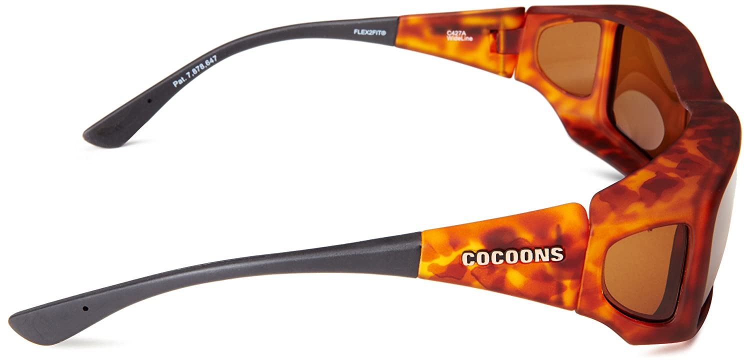 350d1f77a9 Cocoons C427A Tortoise with Amber Wide Line Wrap Sunglasses Polarised   Amazon.co.uk  Clothing