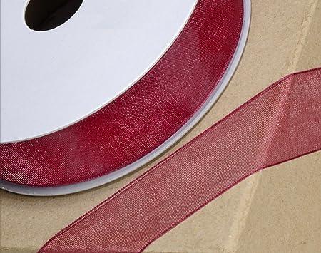 7 mm x 50 m Nastro in organza con bordo intrecciato panna colore