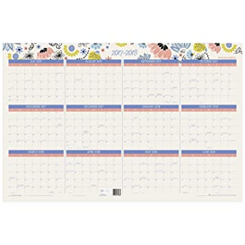 Amazon.Com : At-A-Glance Wall Calendar, Academic / Regular Year