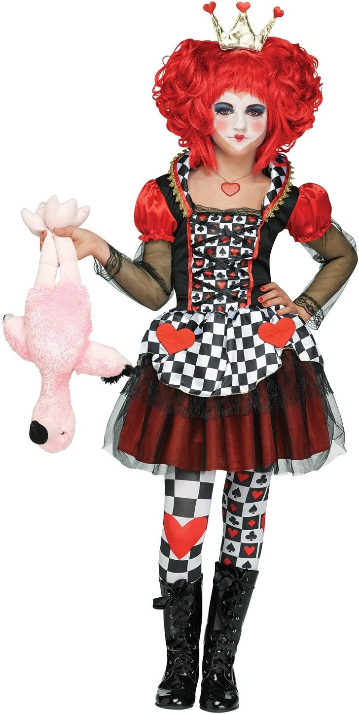 Fun World Queen of Hearts Costume Large 12-14 Multicolor