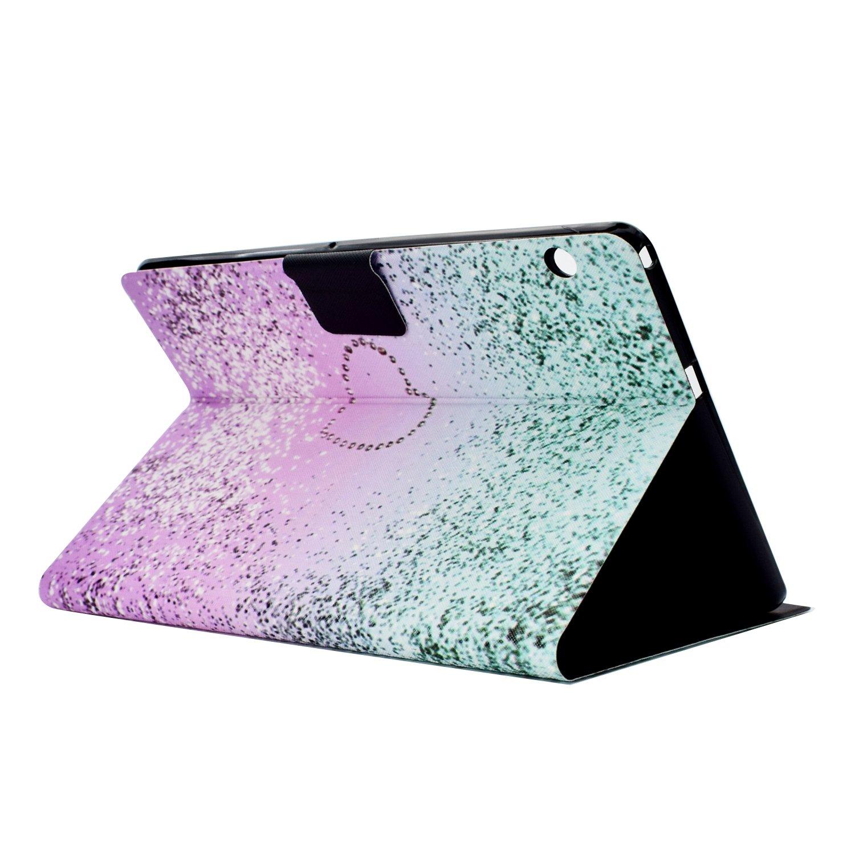 CaseLover Flip PU Pelle Libro Portafoglio Custodia per Huawei MediaPad T3 10 Tablet con Sonno//Sveglia la Funzione Chiusura Magnetica Supporto Slot Borsa Sabbie Cover Huawei MediaPad T3 10
