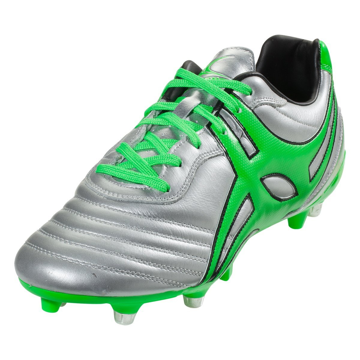 Gilbert Jink Pro 6 Stud Rugby Boot, Silver, US 11 by Gilbert