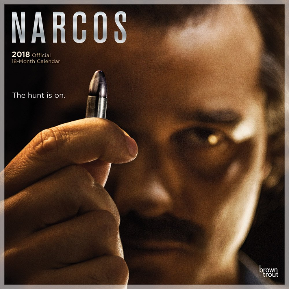 Narcos 2018 12 x 12 Inch Monthly Square Wall Calendar with Foil Stamped Cover, Crime Trafficking TV Television Show Netflix