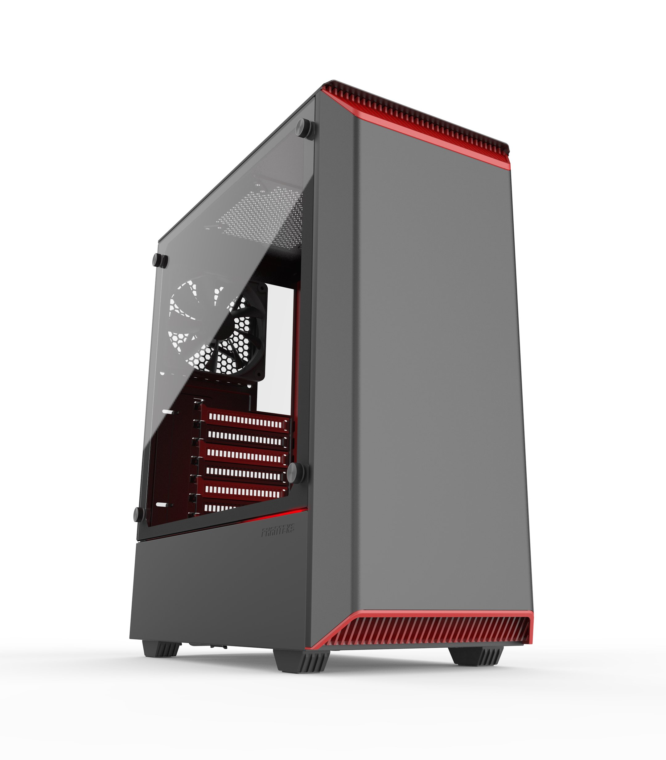 Phanteks PH-EC300PTG_BR Eclipse P300 Tempered Glass Steel ATX Mid Tower Case Black/Red by Phanteks (Image #1)