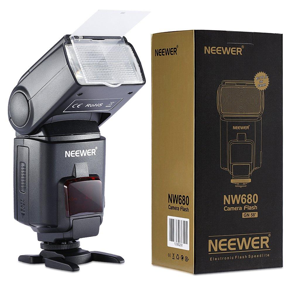 Neewer NW680/TT680 HSS Speedlite Flash E-TTL Camera Flash for Canon 5D MARK 2 6D 7D 70D 60D 50DT3I T2I and other Canon DSLR Cameras by Neewer
