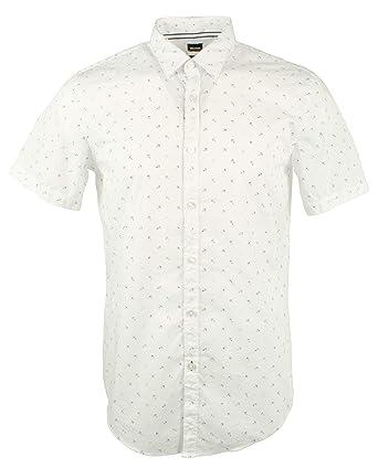 9b9a3455a Hugo Boss Men's Anchor-Print Sport Shirt, Slim Fit   Ronn - White -