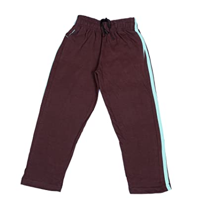 Indistar Boys Premium Cotton Brown Printed Lowers/Track Pant