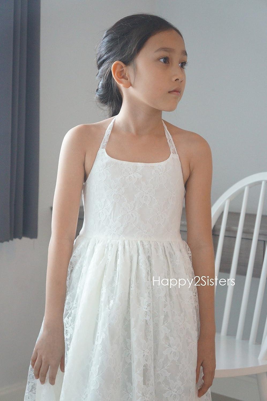 Amazon Boho Girls Dress Lace Flower Girl Dress Beach Girl Dress