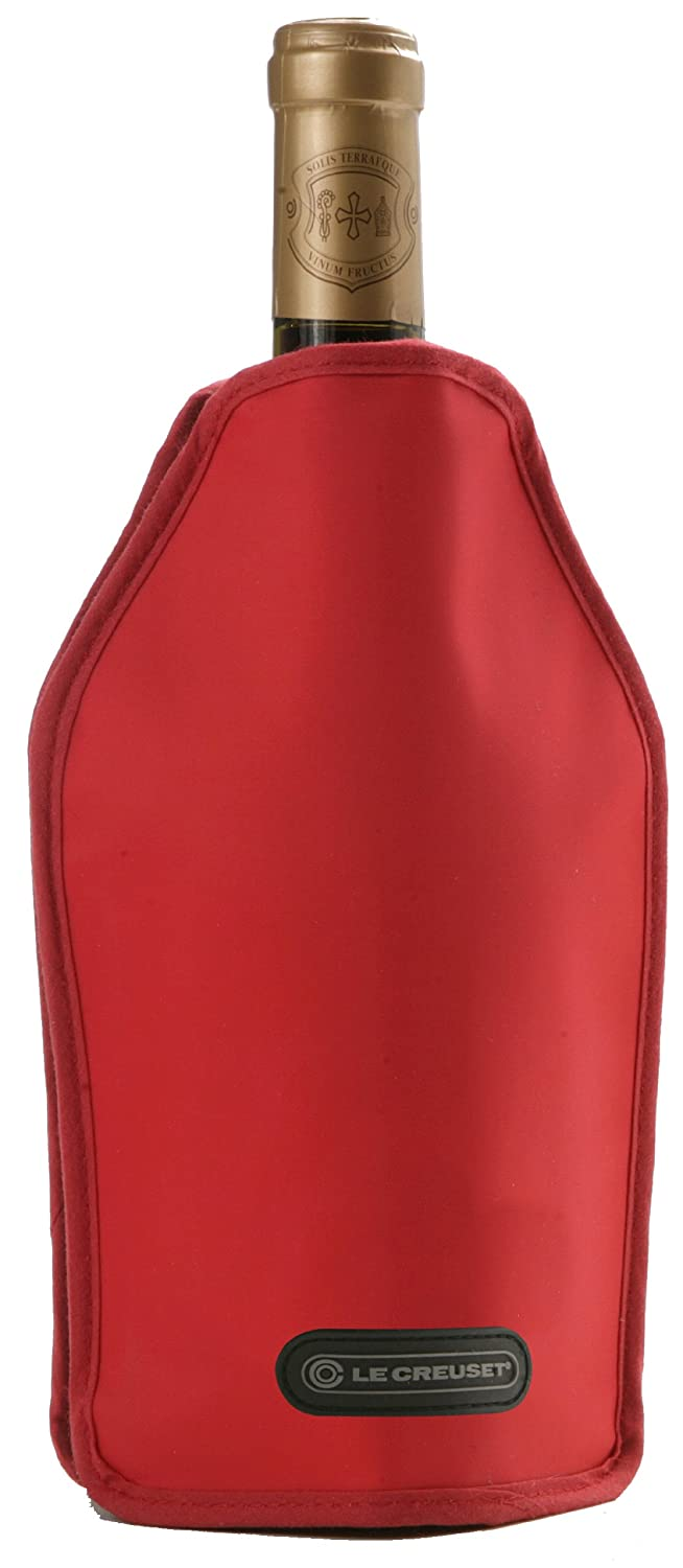 Screwpull Wine Bottle Cooler, Burgundy Le Creuset WA-126-75 Bar_Wine_Tools Screwpull by Le Creuset Wine & champagne bottle cooler sleeves Tools_Gadgets_Barware eating outdoors alfresco picnics wine accessories gifts