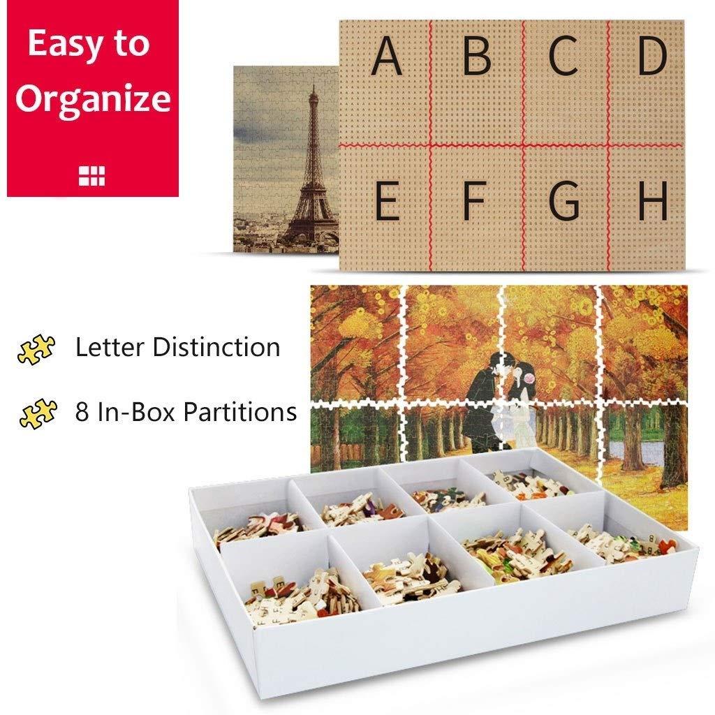 Reizendes Tier, Holzpuzzle, Spaß Dekompression pädagogisches Spielzeug, feiner Schnitt & Passform, 1000 Stück Boxed Toys Kunst Spiel für Erwachsene P514 (Farbe : D) B