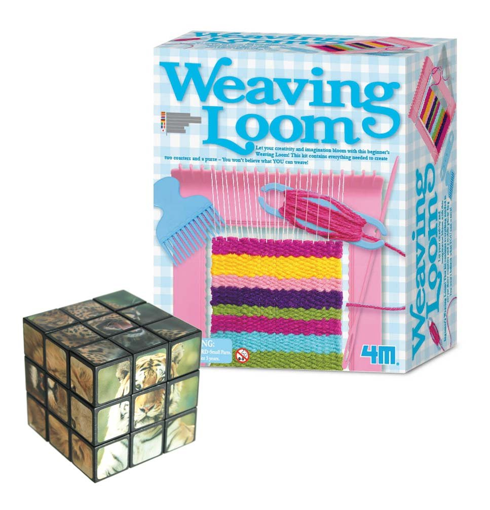 Great Gadgets Galore Loom Creative Knitting Activity Kit - Comes with a Fun Wild Animal Magic Cube Amazing Gift Ideals