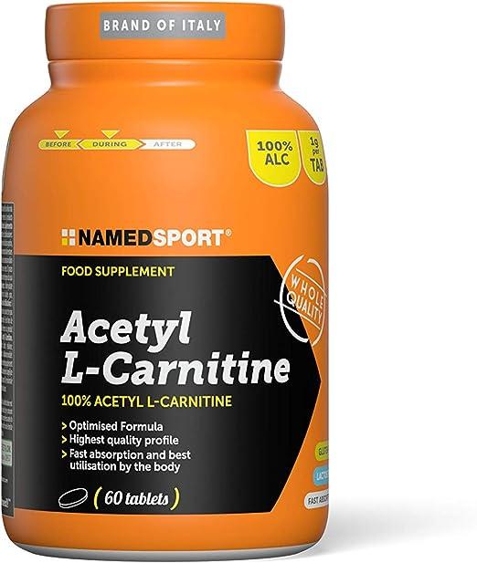 NAMED SPORT Acetyl L-CARNITINE (60 Caps) Quema Grasa, Adultos Unisex, Multicolor (Multicolor), Talla Única