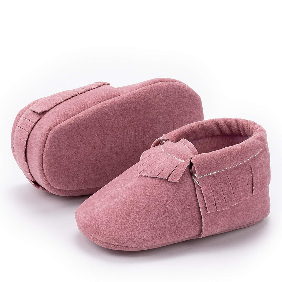 CENCIRILY Infant Toddler Baby Boys Girls Cozy Moccasins Tassels Suede Leather Sole First Walkers Soft Crib Shoes Multi-Colors