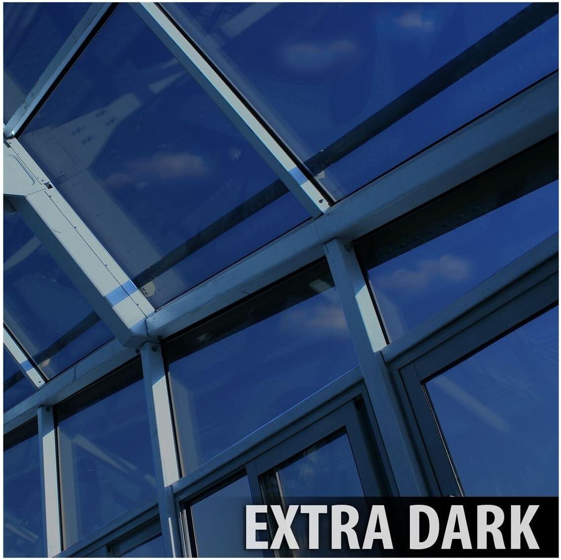 Very Dark BDF NA05 Window Film Privacy and Sun Control N05 Black - 36in X 50ft