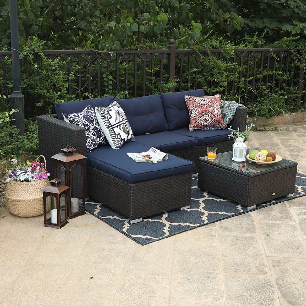 PHI VILLA 3 Piece New Outdoor Furniture Sectional