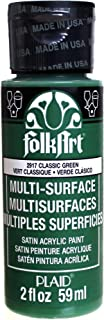 product image for FolkArt Multi-Surface Paint in Assorted Colors (2 oz), 2917, Classic Green