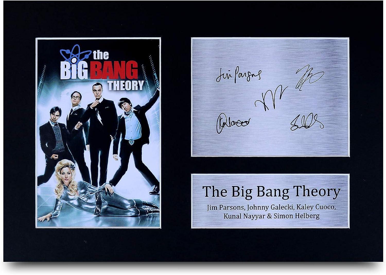 HWC Trading The Big Bang Theory A4 Sin Marco Regalo De Visualización De Fotos De Impresión De Imagen Impresa Autógrafo Firmado por Ventiladores De Programa De TV: Amazon.es: Hogar