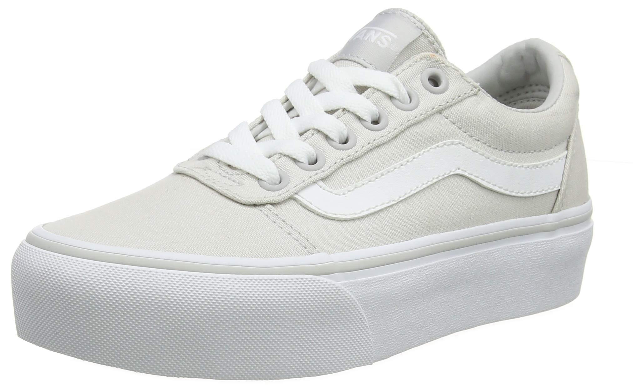 Vans Women's Ward Platform Canvas Low-Top Sneakers - 71zTld2KSQL - Vans Women's Ward Platform Canvas Low-Top Sneakers