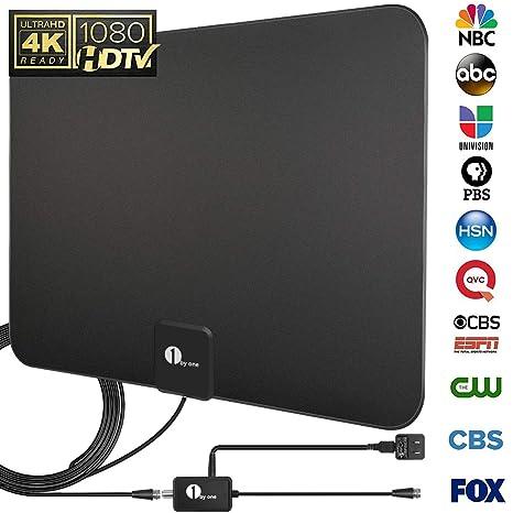 Amazoncom 1byone Upgraded 2019 Digital Amplified Indoor Hd Tv