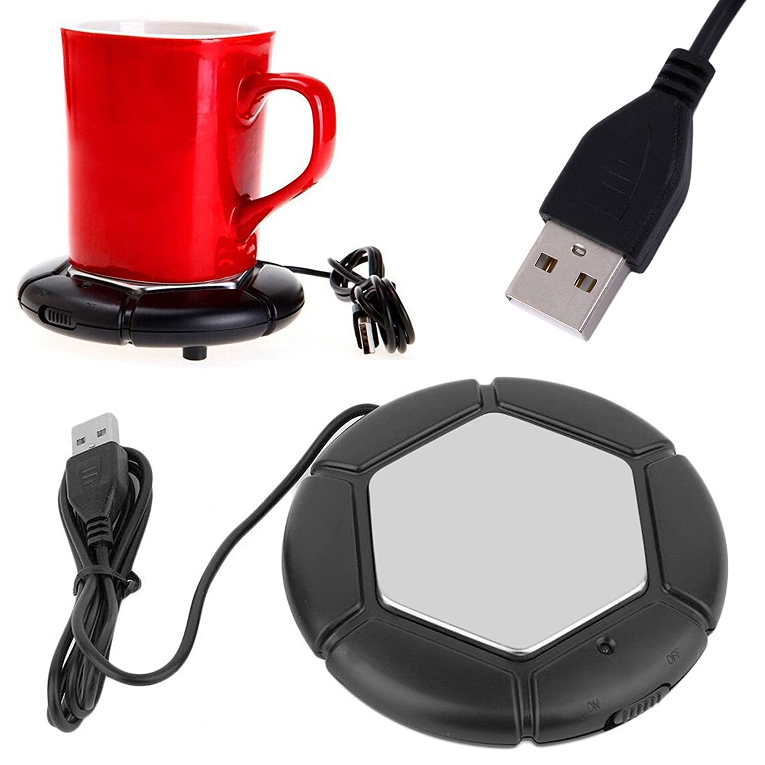 NEW Portable Desktop USB Coffee Warmer - Tea, Cup, Mug, Candle, Wax Warmer Pad cool gadget free shipping smileshop999