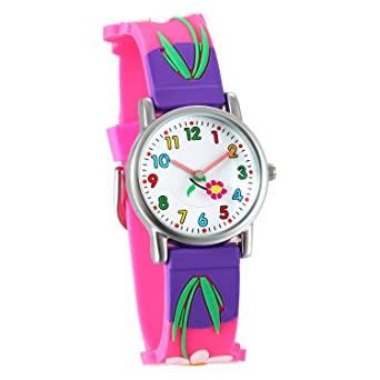 New Style Lovely Cartoon Print Quartz Kids Watch With Braid Band Waterproof Wristwatch For Children Boys Girls 3~10 Years Children's Watches