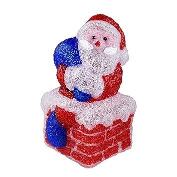 Außendekoration Weihnachten.Weihnachtsmann Auf Kamin 60 Led Acryl Innen Und Außendekoration
