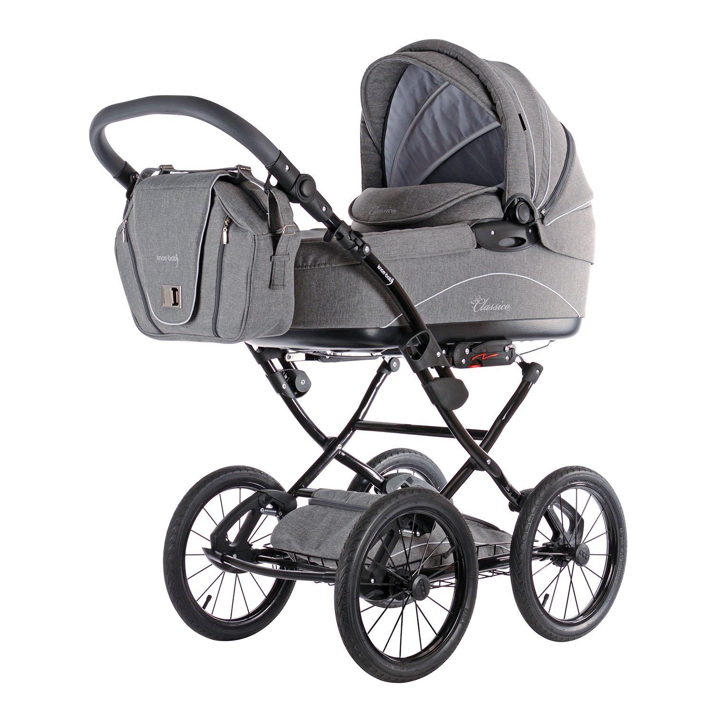 Manche Kinderwagenmodelle sind mit einer extra großen Babywanne ausgestattet.