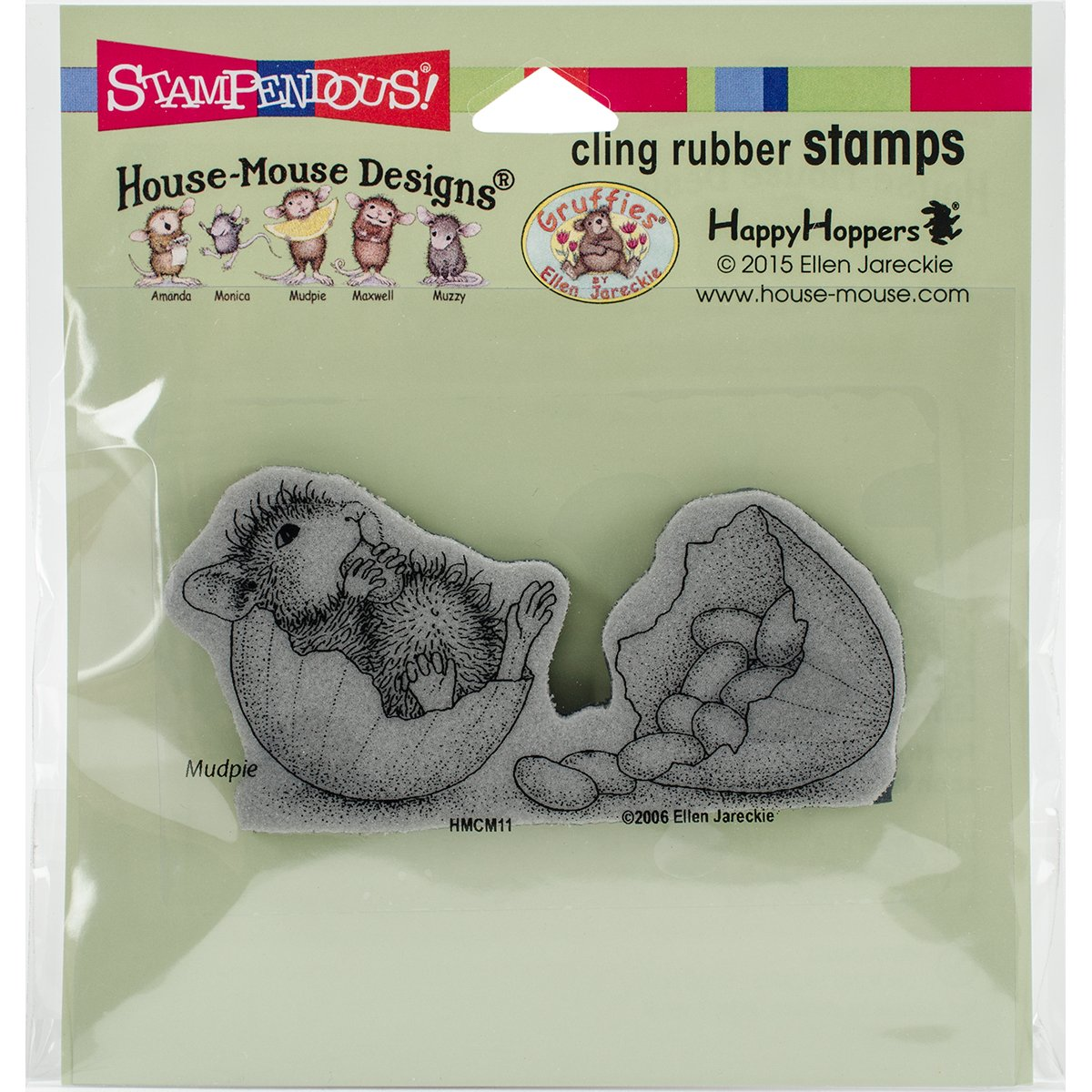 STAMPENDOUS Rubber Stamp Cling Jelly Bean Break