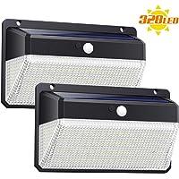 Ekrist Luz Solar Exterior 328 LED Luces Solares【3000lm-más Brillante & Amplio Iluminación】Foco Solar Exterior con Sensor…