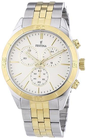 Festina F16763/4 - Reloj, correa de acero inoxidable: Festina: Amazon.es: Relojes