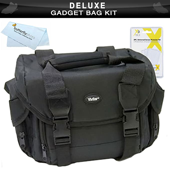 91c903c2a82c Amazon.com  Deluxe Rugged Camera Bag   Case For Olympus OM-D E-M5 ...