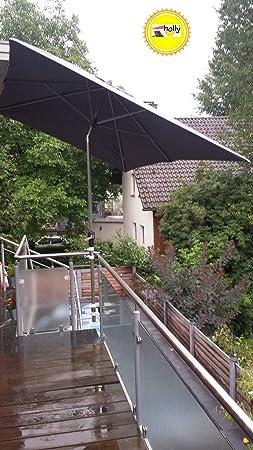 STABIELO 5530-25420BK1 - Soportes para paraguas (2 unidades, acero inoxidable, hasta 60 mm de diámetro, para palos de sombrilla de 25,5 a 42 mm de diámetro): Amazon.es: Deportes y aire libre