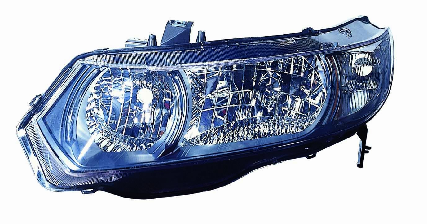 Depo 317-1148R-UC2C Honda Civic Passenger Side Replacement Headlight Unit without Bulb