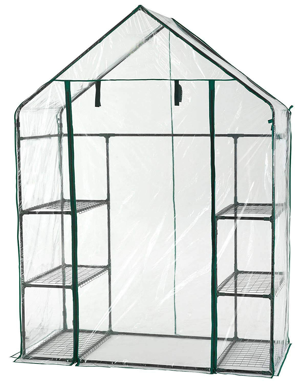 or Flowers in Any Season-Gardening Rack SAVICOS Walk-in Greenhouse- Indoor Outdoor with 8 Sturdy Shelves-Grow Plants Herbs Seedlings