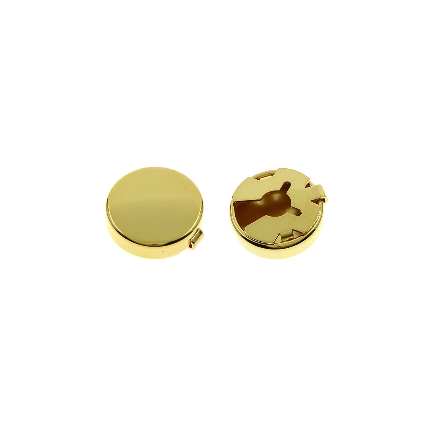 Ms.Iconic 15MM Rose Gold,Gold Round Cuff Button Cover Cuff Links for Wedding Formal Shirt 2Pcs/Set Shine Idea