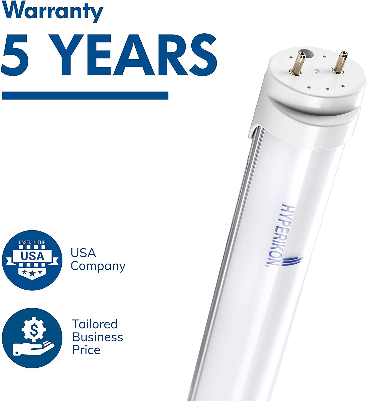 Single End Renewed 4000K Daylight 4 Pack 18W Hyperikon T8 4 Foot LED Bulbs Frosted LED Light Tube 48 Watt Replacement