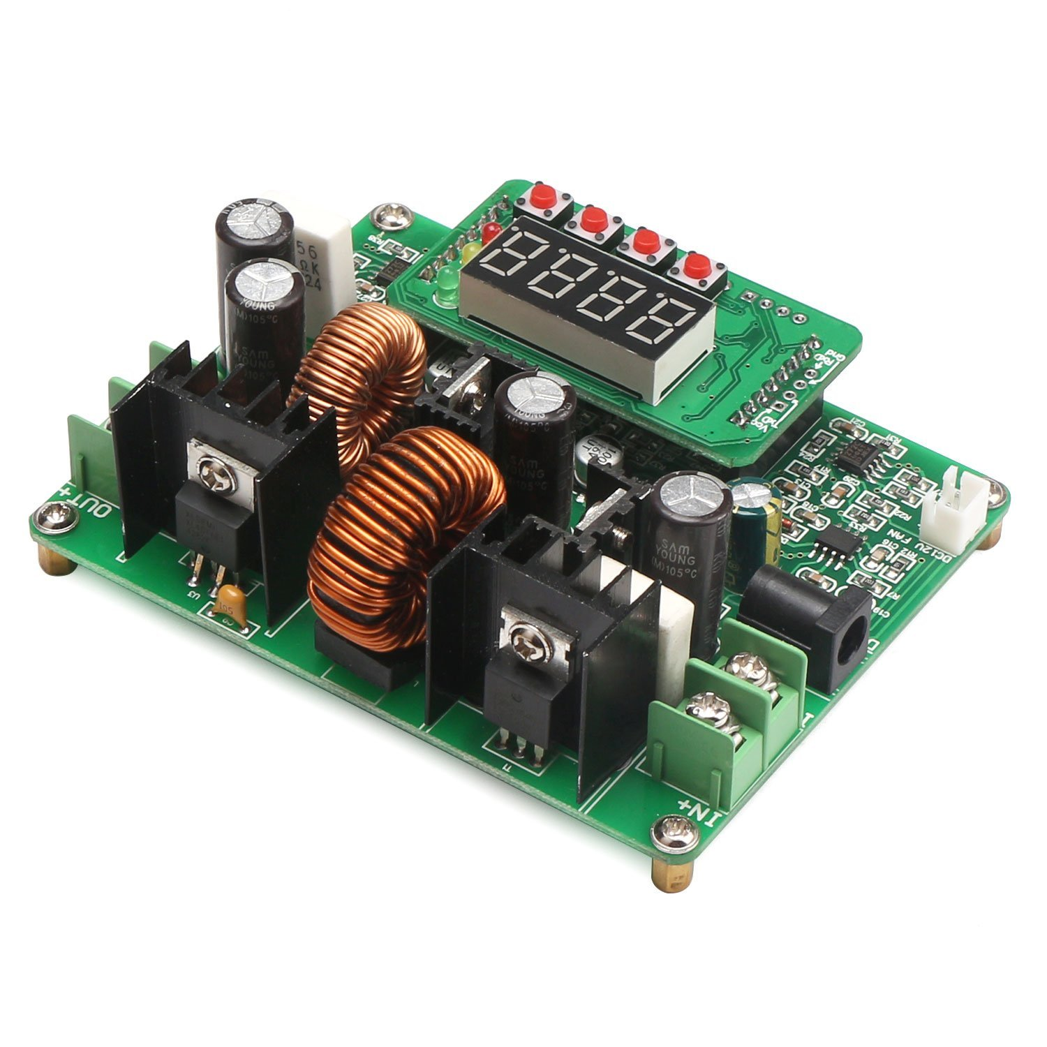 Drok Numerical Control Buck Boost Converter Voltage Lm317 Short Circuit Protection Regulator 25 Pcsneweggcom Electronics