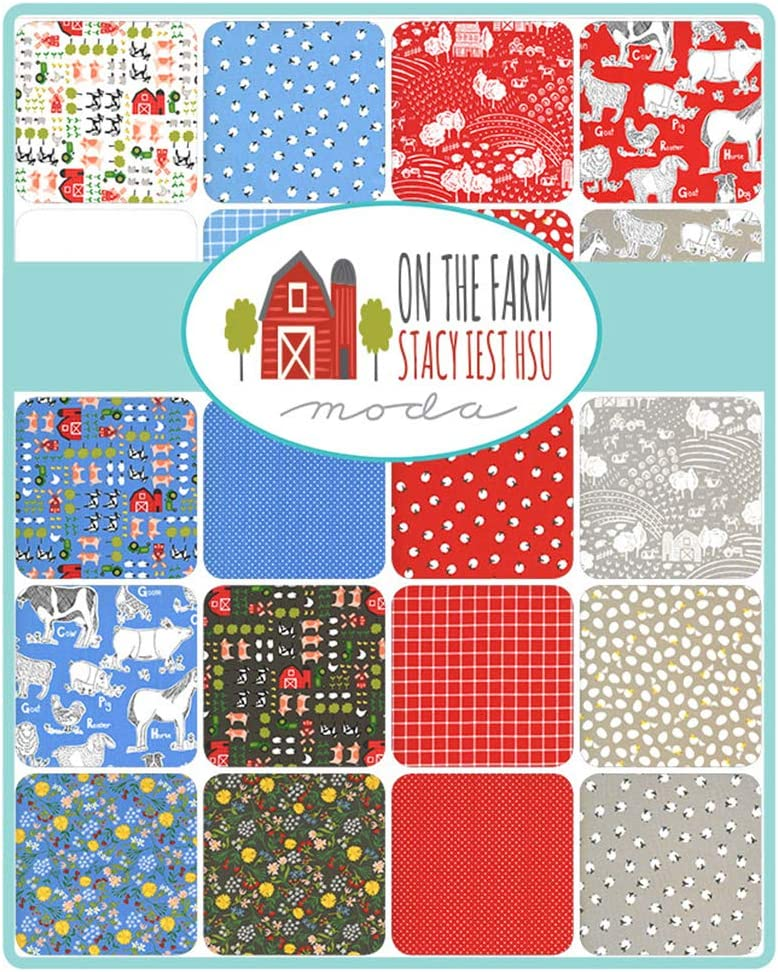 On The Farm Layer Cake 42-10 inch Precut Fabric Quilt Squares by Stacy Iest HSU