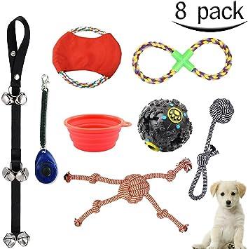 Juguetes para perros MG MULGORE 8 Pack perrito de algodón cuerda ...