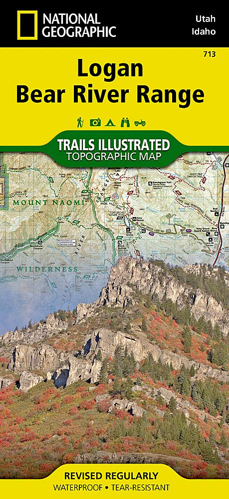 Logan Bear River Range  National Geographic Trails Illustrated Map Band 713
