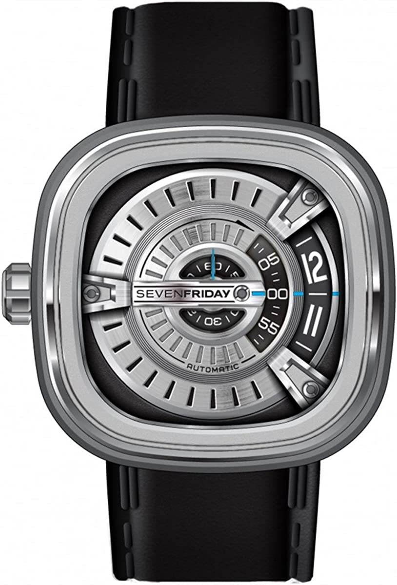 SEVENFRIDAY Men s M1-1 M Series Analog Display Japanese Automatic Black Watch