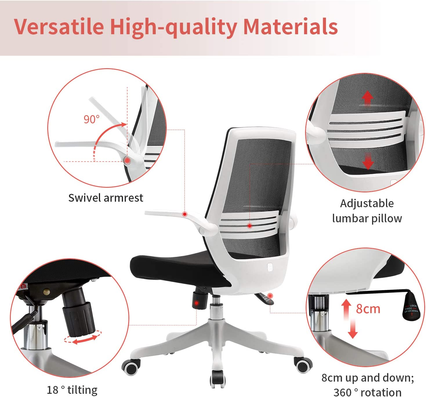 2. SIHOO Mesh Office Desk Chair – Best Budget