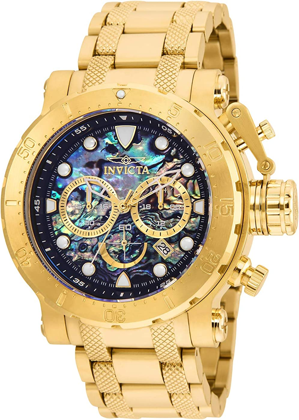 Invicta Men s Coalition Forces Quartz Watch with Stainless Steel Strap, Gold, 26 Model 26504