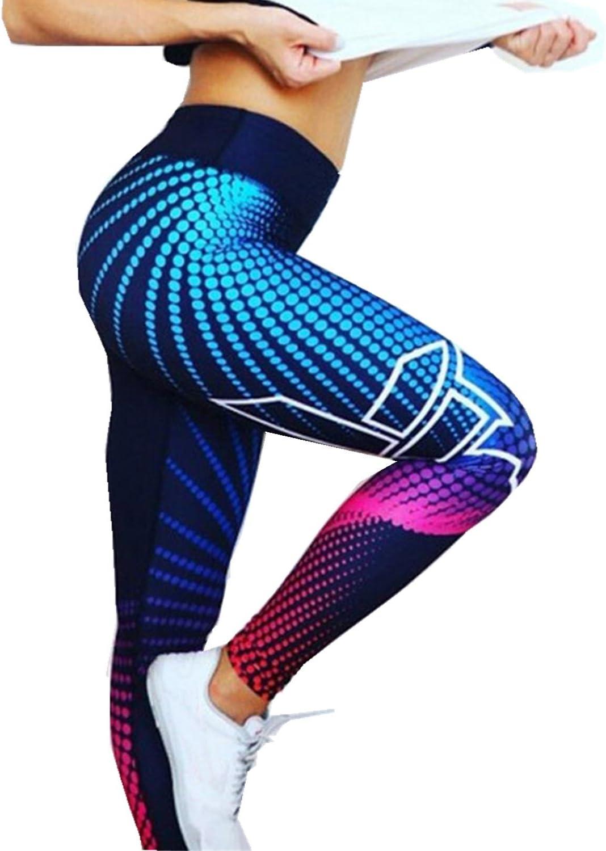 Polainas Leggins de Impresión 3D para Mujer, LILICAT® Chandal Mallas Deportivos Cintura Alta Push Up de Fitness, Pantalones Ropa Elasticos de Deportes/Gimnasio/Yoga/Running/Correr/Pilates/Gym Skinny,