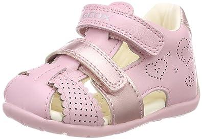 Geox Baby Mädchen B Each Girl C Sneaker, Pink (Dk Fuchsia), 20 EU