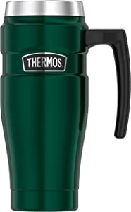 Thermos Stainless King 16 Ounce Travel Mug, Pine Green