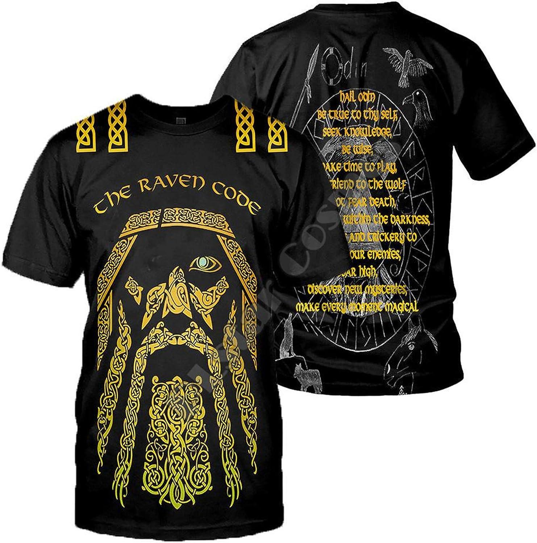 Camiseta Unisex con Estampado de Tatuajes Vikingos Camiseta ...