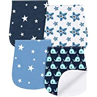 4-Pack Yoofoss Baby Burp Cloths Triple Layer Burping Rags Soft