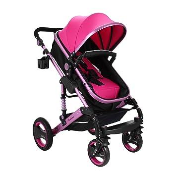 Cueffer 6 en 1 Cochecito de Bebé Plegable Cochecitos para Niños Baby Stroller